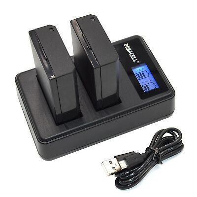 LP-E10 Battery & Dual LCD Charger for Canon Rebel T3 T5 T6 EOS1100D Kiss X50 New