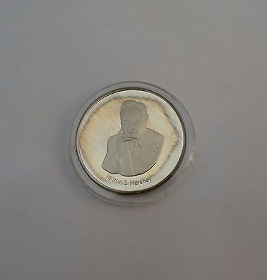 1989 Milton Hershey Chocolate Sterling Silver Coin Employee Gift