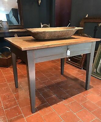 Lovely Antique French Cherrywood Kitchen Dining Table Desk