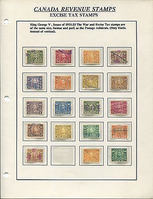 Canada Revenue Excise Tax Mint & Used Collection High Cat Value