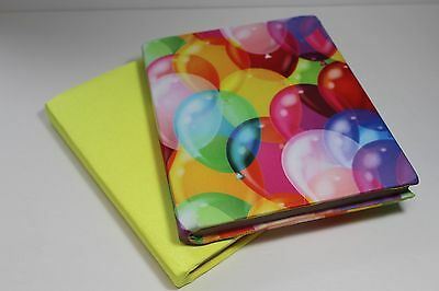 Book Sock, Stretchable Book Cover, Book Protector, 2 pc set, Balloons.