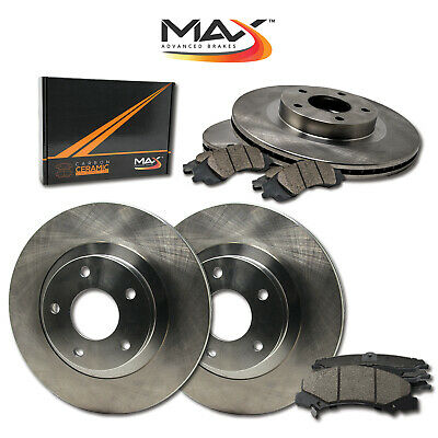 2011 2012 Jeep Wrangler OE Replacement Rotors w/Ceramic Pads F+R