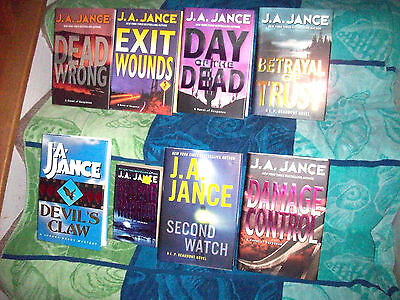 Lot of 8 J.A. Jance Hardcover Books all are in Excellent Condition