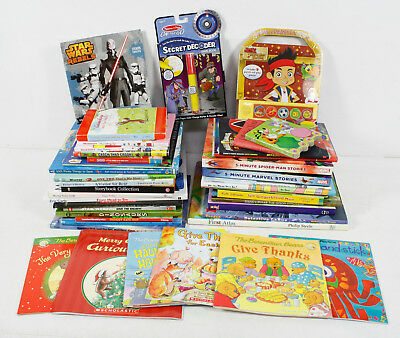 40 Children's Illustrated Story Toddlers Early Reader Kids Books Mixed Book Lot