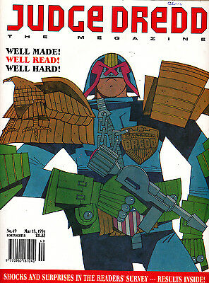 Judge Dredd Megazine #49 Volume 2 , Mar 1994 , 2000AD , Fleetway , VERY FINE