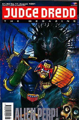 Judge Dredd Megazine #11 Volume 1 , Aug 1991 , 2000AD , Fleetway , VERY FINE