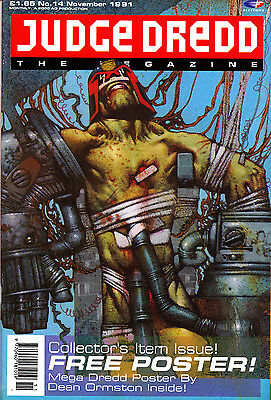 Judge Dredd Megazine #14 Volume 1 , Nov 1991 , 2000AD , Fleetway , VERY FINE