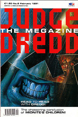 Judge Dredd Megazine  #5 Volume 1 , Feb 1991 , 2000AD , Fleetway , VERY FINE
