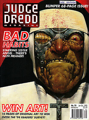 Judge Dredd Megazine #70 Volume 2 , Jan 1995 , 2000AD , Fleetway , VERY FINE