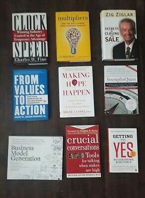 Wholesale Lot Of (9) Popular Business Books!! No Markings Or Highlighting!
