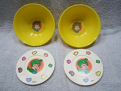 Set/2 Vintage Chilton - Globe Inc. Lucky Charms Play Kitchen Bowls and Saucers