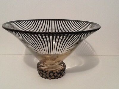 A Contemporary Art Glass Bowl Signed And Dated 86 , Edition 1 Of 15