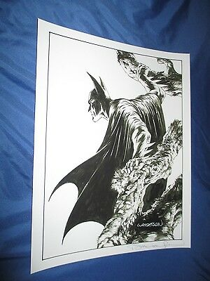 BATMAN / DARK KNIGHT Signed Art Print by Bernie Wrightson ~MASTER OF HORROR!!