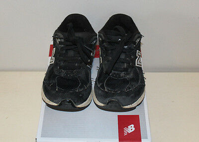 New Balance Toddler Shoes Boys Black Size 10.5 X-Wide Good Condition