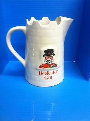"""BEEFEATER GIN WATER JUG 1980s 6"""" made by WADE PM co."""