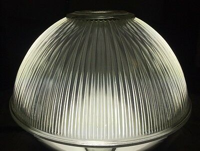 Holophane Style Glass Light Fixture Shade Vintage Antique Lighting Industrial