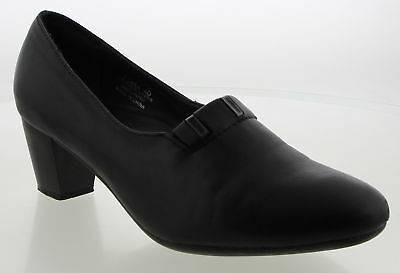 Women's SPRING STEP Black Leather Casual Shoes Size 40