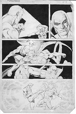 PRIMO:  COWAN original POWER-MAN / IRON FIST #83 art 1982 Netflix Marvel comics