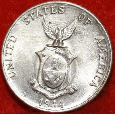 Uncirculated 1944-D Philippines 10 Centavos Silver Foreign Coin Free S/H