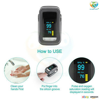NEW-GHB Pulse Oximeter Finger Blood Oxygen Saturation Monitor SpO2 OLED Display