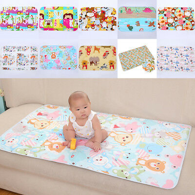 Waterproof Diaper Baby Changing Pad Cute Cotton Nappy Cover Kids Infant Mat