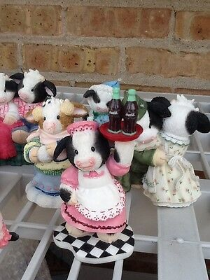 Lot of 9 MARY'S MOO MOOS COW FIGURINES