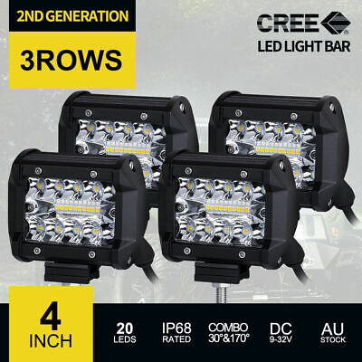 20 inch 1400W CREE LED Light Bar 3Rows Spot Flood Combo 4x4 Work Driving 12V24V