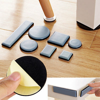 Round Magic Mover Moving Sliders Pads Furniture Gliders Carpet Flooring Coaster