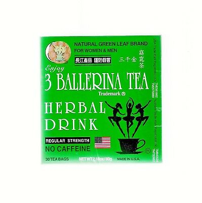 3 Ballerina Tea REGULAR STRENGTH 30 Tea Bags Slim Tea Diet Tea Drink