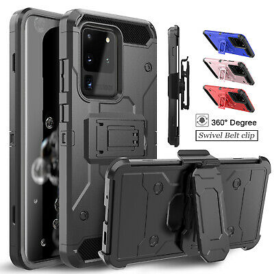For Samsung Galaxy S10 Plus/Note 9/8/S8/S9 Cover Case With Kickstand + Belt Clip