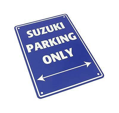 Metal Suzuki only parking sign motorcycle