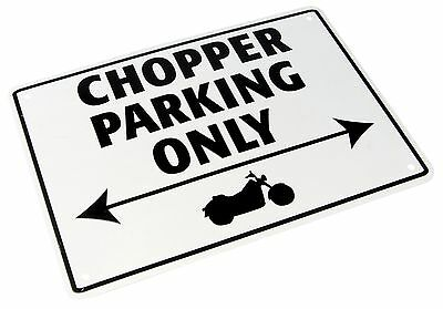 Metal Choppers only parking sign motorcycle
