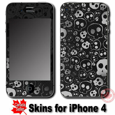 Cool Skulls SKIN STICKER DECAL COVER for Apple iPhone 4