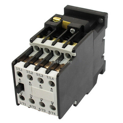 CJ20-10A 3 Pole 2NO 2NC Standard Mounting Rail 4KW AC Contactor 35mm Coil 24V 50