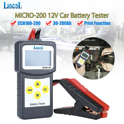 M-200  Automotive Car Battery Load Tester 12V 30-200Ah with USB for printing