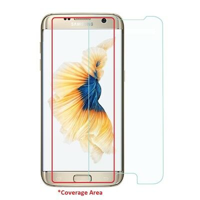 For Samsung Galaxy S7 Edge Clear Flat Tempered Glass Screen Cover