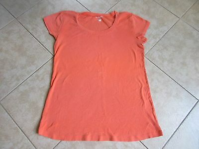 MOTHERHOOD MATERNITY Short Sleeve Top Size L Orange Peach EXCELLENT!