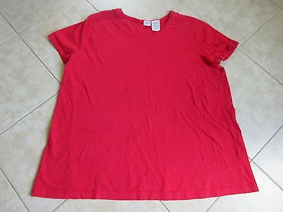 DUO MATERNITY Short Sleeve Top Size XL Red EXCELLENT!  LOOK!