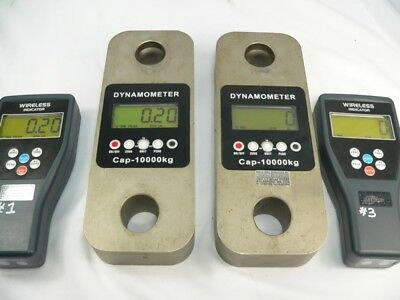 (#2) Dynamometer 10,000kg load cell crane scales  x2 (Plus Handhelds for parts)