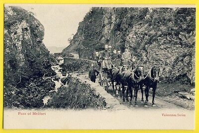 Postcard SCOTLAND ÉCOSSE Pass of MELFORT Diligence Attelage The old Stagecoach