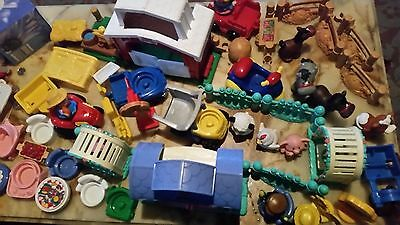 Large  Fisher Price Farm And House Set