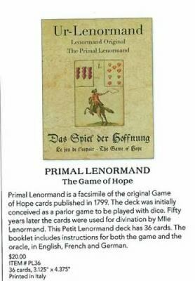 Primal Lenormand The Game of Hope by Alexander Gluck 9781572818248 (Cards, 2015)