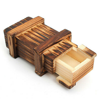 Magic Puzzle Box Wooden Secret Mini Compartment Gift Intelligence Brain Teaser