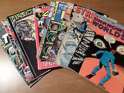 Horror & Sci-Fi Comics: 14 Vintage Titles!!!!!