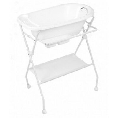 Infa Deluxe Bath Stand & Easi Drain Bath Package - White