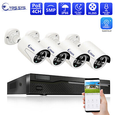 (4)2MP 1080P HD ARRAY IR CCTV IP DOME Camera 4CH Net POE NVR Security System