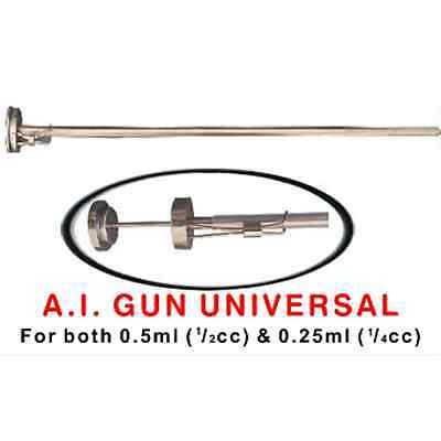 Universal Artificial Insemination Gun ( Cattle AI Gun ) 1/2cc & 1/4cc size Straw