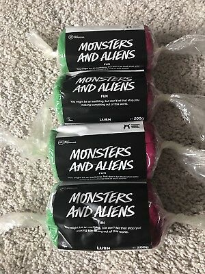 Lush Monsters And Aliens Fun Bars 200g X4