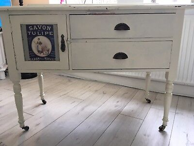 Cream Farrow and Ball Painted Vintage French Dresser
