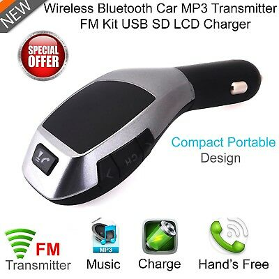 Wireless Bluetooth FM Transmitter Car MP3 Player LCD USB Port Mobile Charger Kit